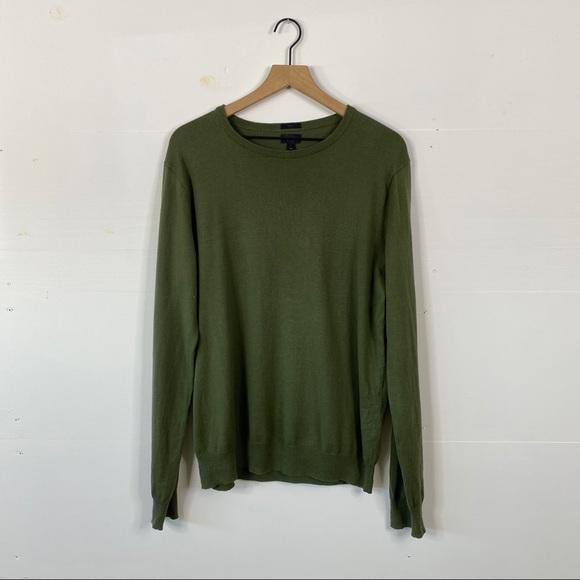 J. Crew  Cotton Cashmere Blend Crewneck Sweater
